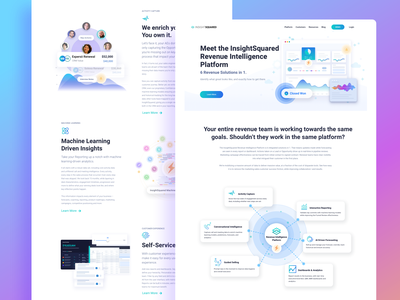 InsightSquared Marketing Site Design
