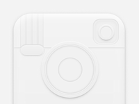 White instagram icon