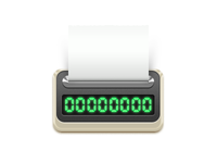 Checkout counter icon