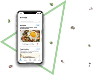 Recipe discovery app on iphone x by avigyan chatterjee dribbble recipe discovery app on iphone x forumfinder Images