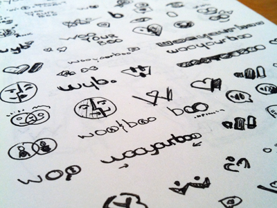 WooYourBoo Sketches concept ink logo identity branding icon sketches heart dating w face love find rick landon rick landon rick landon design