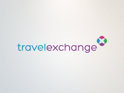 TravelExchange Logo logo mark serif travel x clean colorful modern corporate rick landon rick landon rick landon design