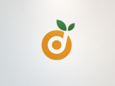 Daybreak Logo (Proposed) orange d logo vector leaf green fruit target