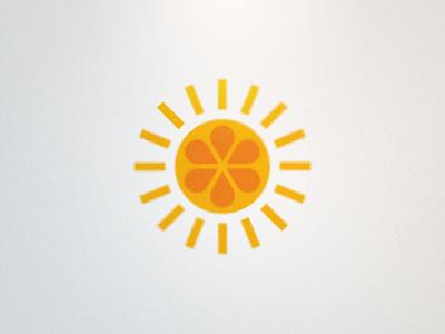 Daybreak Logo (Proposed 2) sun orange fruit yellow vector icon rick rick landon rick landon rick landon design logo