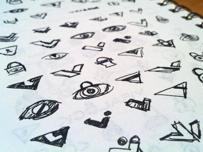 Virallock Sketches sketch ink lock eye v rick landon rick landon rick landon design