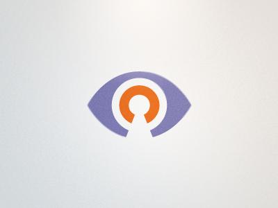 Virallock Logo Detail (Proposed) eye lock purple orange clean modern icon rick landon rick landon rick landon design logo
