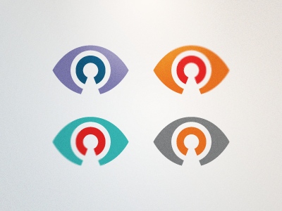 Virallock Logo Colors (Proposed) eye lock purple orange red gray grey blue turquoise clean modern icon landon rick landon rick landon rick landon design logo