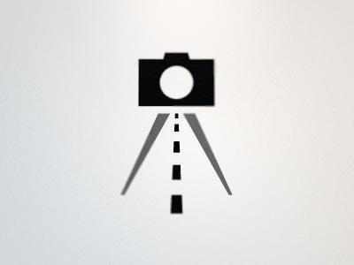 AutomotivePhotography.net Logo 1 rick landon rick landon rick landon design camera road tripod vector black gray grey logo