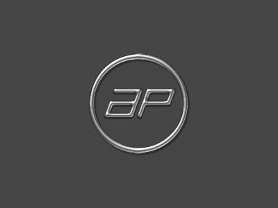 AutomotivePhotography.net Logo (Chrome) rick landon rick landon rick landon design a p circle monogram metal chrome logo
