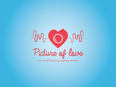 Picture of Love simple modern minimalist logodesign graphicdesign designer colourful colorful branddesign brand typography vector illustration icon design logo photographer