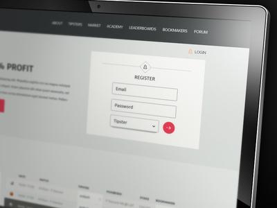 blogabet // register form