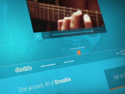 Drooble homepage parallax drooble homepage flat player video header blure parallax simple layout