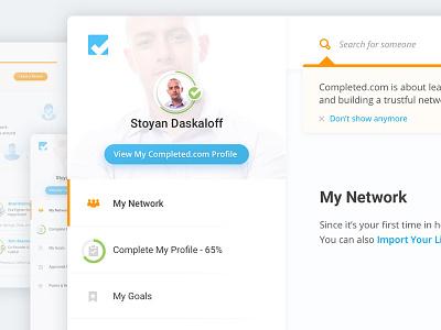Completed.com Sidebar redesign completed.com sidebar