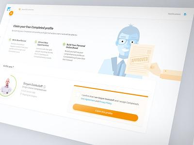 Claim your profile flat illustration profile claim