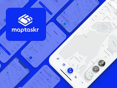 MapTaskr ui tracker map app android ios