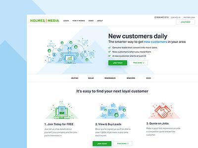 Holmes Media brand and identity brand redesign uidesign ui web design