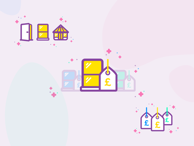 Icon Styles for Windows Site fun vector outline icons illustration brand purple icon