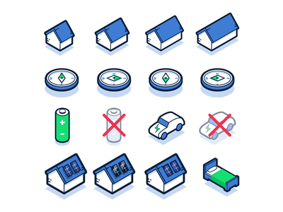 Isometric Icons for Solar Calculator isometric icons isometric fun design vector illustration