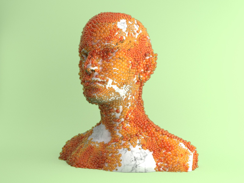 Skin Care abstract frame style cgi arnold houdini c4d 3d