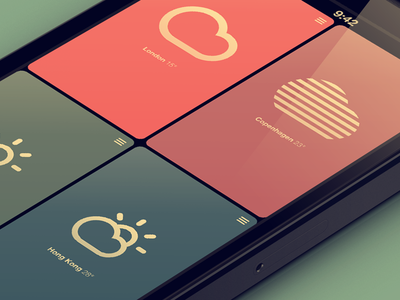 Introducing the new Sun flat flat design sun app iphone weather bad weather topic of conversation robin