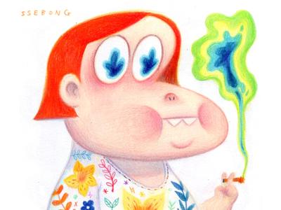 A colorfull smoking.