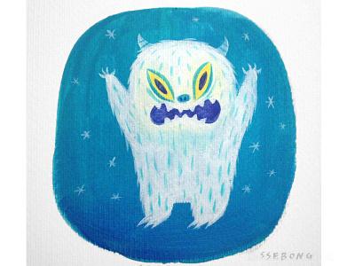 Monster ssebong illustration acrylic monster