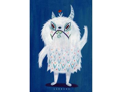 Monster ssebong character illustration monster