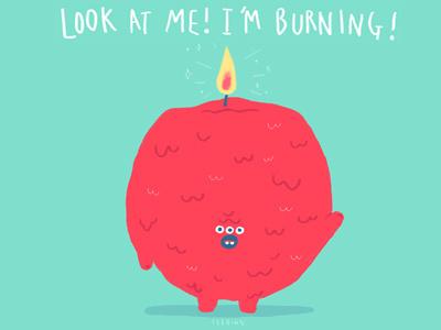 I'm burning! ssebong character