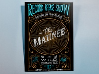 The Matinee record release party poster