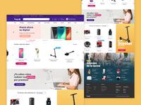Home ecommerce rewards UI