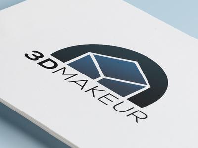 Logotype 3D Makeur logo logotype identity branding typography