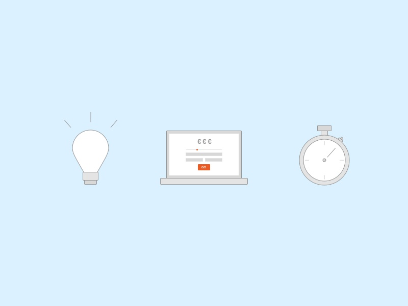 Small set of icons illustration minimalist light timer computer ui icons icon icon set