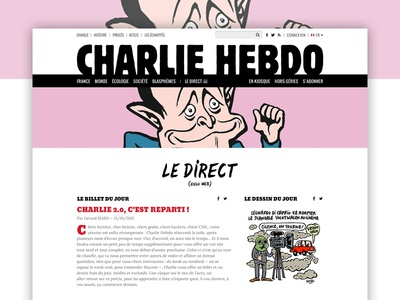 Charlie Hebdo design website newspaper design ux ui webdesign website editorial