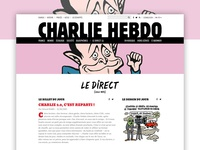 Charlie Hebdo design website