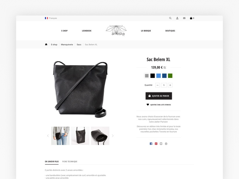 Product page redesign user inteface ux ecommerce