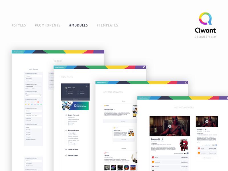 Modules - Qwant design system ui  ux design product design search engine optimization search engine search engine optimizing design system