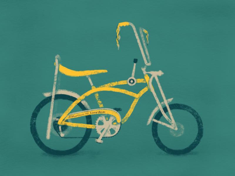 Schwinn Lemon Peeler vintage bike texture procreate ipadpro illustration