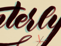Painterly Brush Set daily practice paint atomic retro vintage sign painting calligraphy handlettering procreate daily lettering