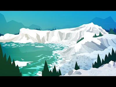 Arctic Rebound winter water vector slush sky illustration ice environment cold blue baren arctic