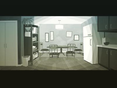 Dining room (update) bg background paint layout kitchen illustration design retro perspective background art background interior vector illustrator