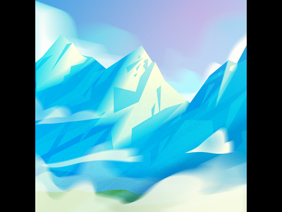 Mountains background art painting nature background environment mountains illustrator illustration vector