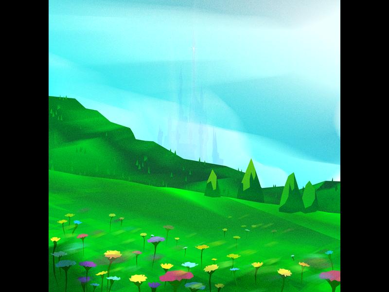 Castle castle textures forest fantasy environment background illustrator illustration vector