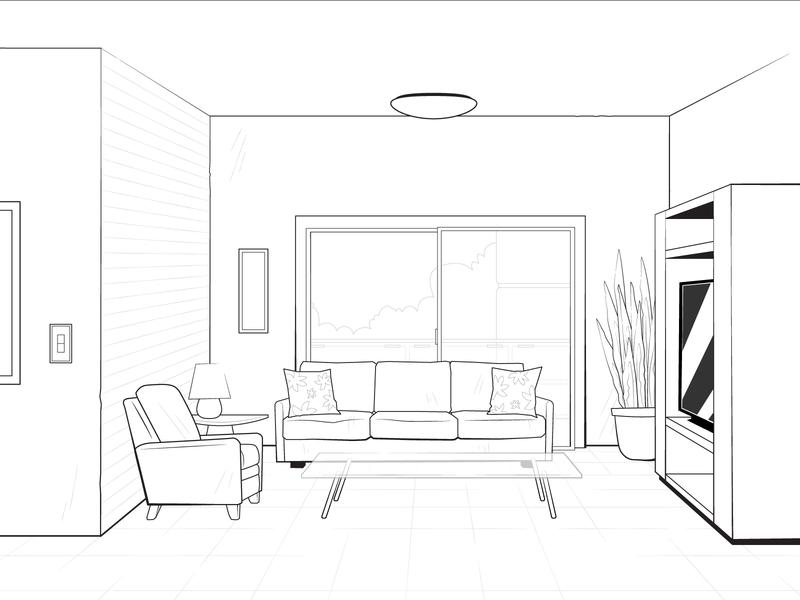 Living Room Layout layout design layout 2d animation 2d art lineart apartment living room interior background illustrator illustration vector