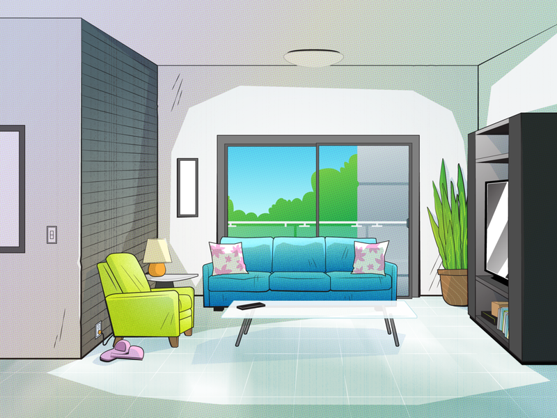 Living Room Layout Color Take 2 environment textures interior background illustrator illustration vector