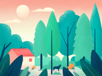 scenery illustrations