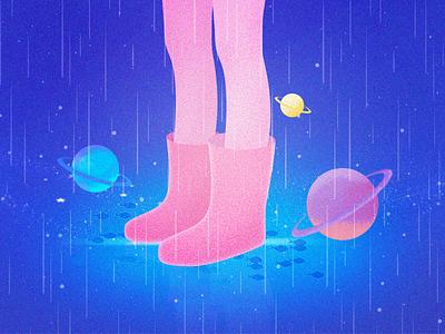 Rainy planet rainy planet photoshop illustrations