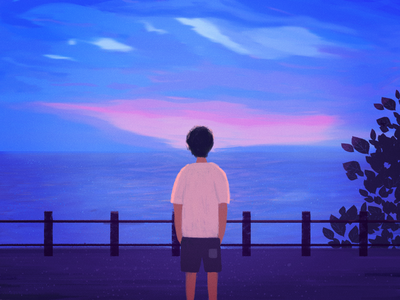 Alone illustrations