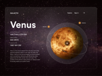 Galactic galaxies venus galactic galaxy user interface ui ux design interactive design user ux ui
