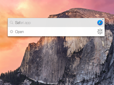 Yosemite Interface for Quicksilver
