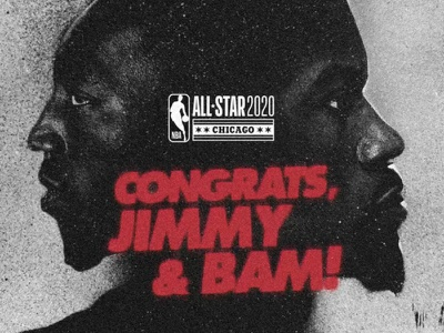 Jimmy Bam All Star Announcement all stars graffiti dribble gritty spray paint grunge adebayo bam butler jimmy heat all star nba bball miami design basketball motion graphics animation